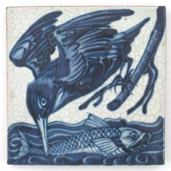 New Record Price for William De Morgan tile Image